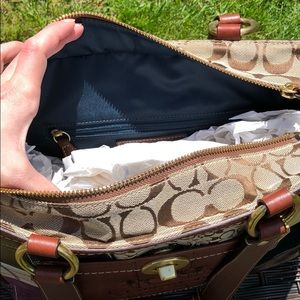 Coach Bags - Patchwork Coach Bag - Worn Once!